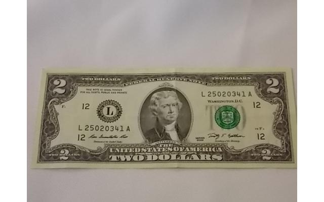 $2 Federal Reserve note - 1/2