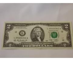 $2 Federal Reserve note - Image 1/2
