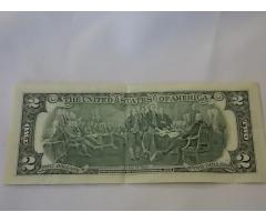 $2 Federal Reserve note - Image 2/2