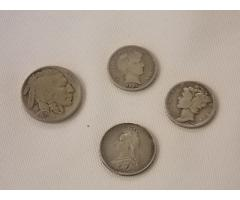 Lot E101 1936 nickel, 1901 and 1944  Dimes, and Canadian coin - Image 2/4