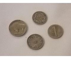 Lot E101 1936 nickel, 1901 and 1944  Dimes, and Canadian coin - Image 3/4