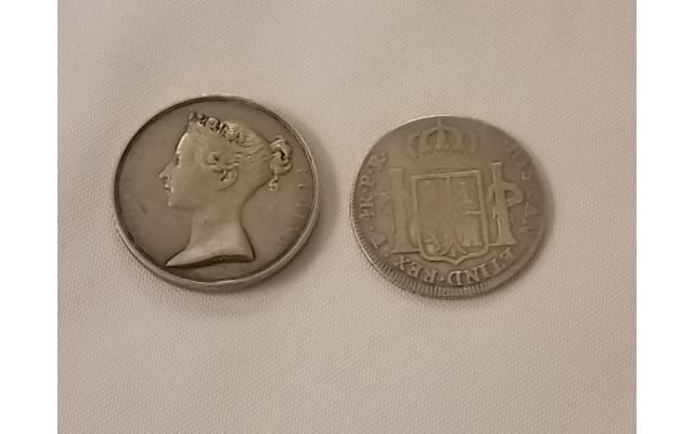 1792 Mexican RARE Coin and another foreign coin - 2/2