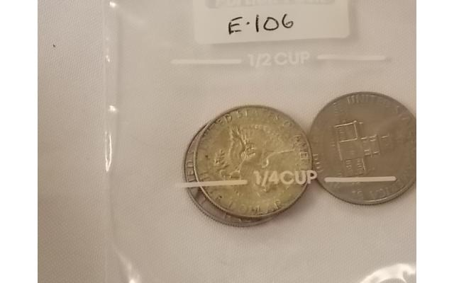 1965, 1969, and 1976 Half Dollars Lot E106 - 3/3