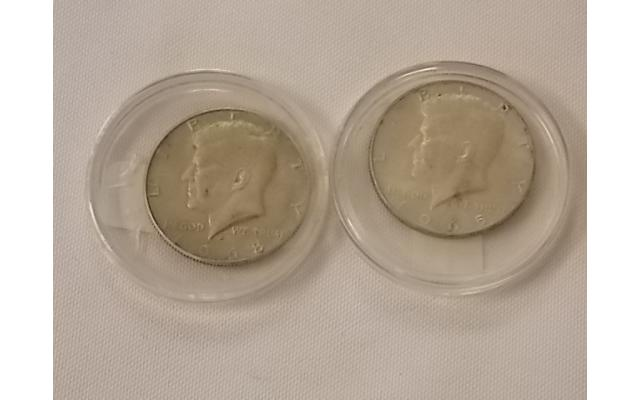 65 and 68 Kennedy Half Dollars Lot E108 - 1/3