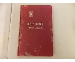Lot #24 Vintage Rolls-Royce Silver Cloud III Handbook Car Maintenance Book