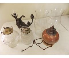 Lot #36 Oil Lamps Lot