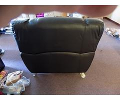 Black leather style Chair