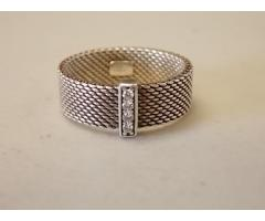 Tiffany & Co. Sterling Silver Somerset Ring (marked 925, possibly small diamonds) - Image 1/4