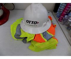 Construction vests and helmet