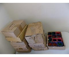 Lot of shot glasses in boxes