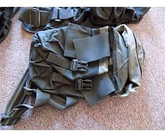 Lot of forearm protectors and ammo bags