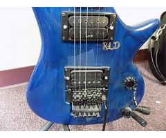 Lot# 107 Daniele custom made Blue guitar - Image 3/6