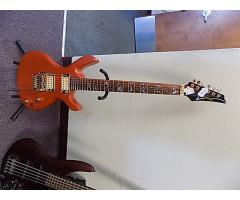 Lot#116 Custom Made Daniele guitar Orange with Licsc. Floyd Rosa - Image 1/8