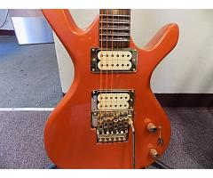 Lot#116 Custom Made Daniele guitar Orange with Licsc. Floyd Rosa - Image 4/8