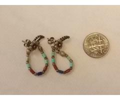 Lot #38 Silver Earrings with Mixed Stones