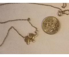 Lot #44 Silver Elephant Necklace (stamped 925)