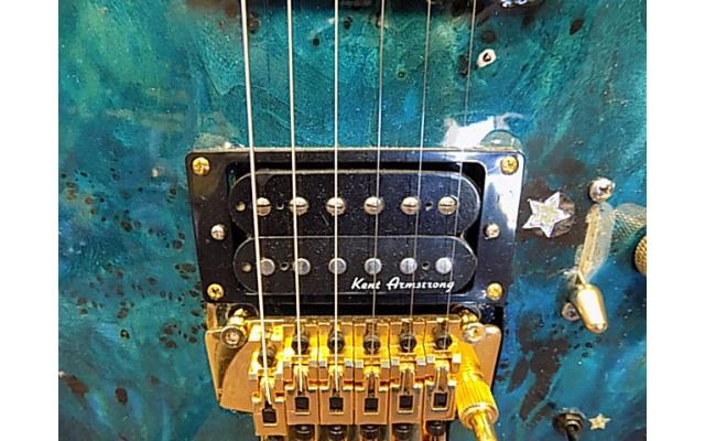 Lot #118 Daniele Blue Foyd Guitar Ken Armstrong and sustainer Pick up - 5/9