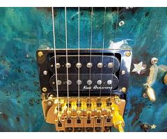Lot #118 Daniele Blue Foyd Guitar Ken Armstrong and sustainer Pick up - Image 5/9