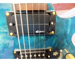 Lot #118 Daniele Blue Foyd Guitar Ken Armstrong and sustainer Pick up - Image 6/9