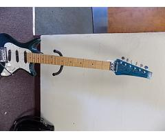 Lot# 120 Daniele guitar (damaged)w/ Floyd rose and mighty mite pick ups - Image 1/10