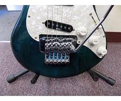 Lot# 120 Daniele guitar (damaged)w/ Floyd rose and mighty mite pick ups - Image 4/10