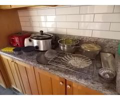 Lot #112 Lot Of Cookware, Toaster, Blender and Crockpot