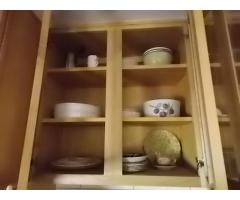 Lot #113 Lot of Cups, Bowls, & Dishes In Cabinets (Cabinets Not Included)