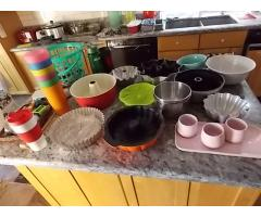 Lot #116 Lot of Cakes Pan And Misc. Items on Bar (Bar Not Included)