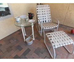 Lot #117 Patio Chair And Table Lot