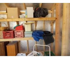 Lot #122 Contents in Shed Lot, Take Anything You want But Pool Supplies and shed Stays