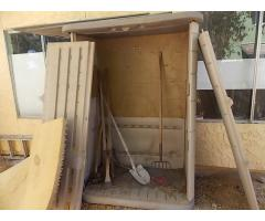 Lot #126 Outdoor Storage Shed With Tools