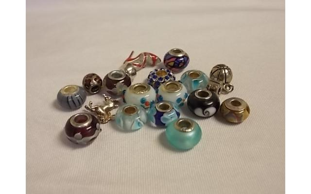Lot #1 Beads Either Marked Silver Or Appears To Be Silver - 1/3