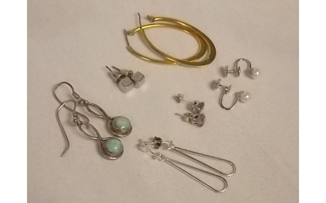 Lot #2 Earring Lot Either Marked Silver Or Appears To Be Silver - 1/3