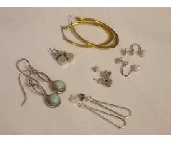 Lot #2 Earring Lot Either Marked Silver Or Appears To Be Silver - Image 1/3