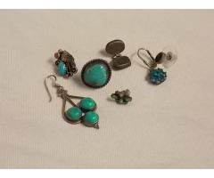 Lot #6 Earring lot either marked silver or appears to be silver missing mates - Image 1/2