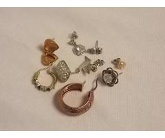 Lot #7 Earring lot either marked silver or appears to be silver missing mates - Image 1/2