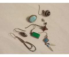 Lot #8 Earring lot marked either silver or appears to be silver missing mates - Image 1/2