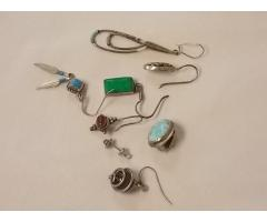 Lot #8 Earring lot marked either silver or appears to be silver missing mates - Image 2/2