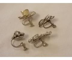 Lot #10 jewelry either marked silver or appears to be silver missing mates - Image 2/2