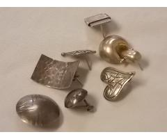 Lot #11 earring lot either marked silver or appears to be silver missing mates - Image 2/2