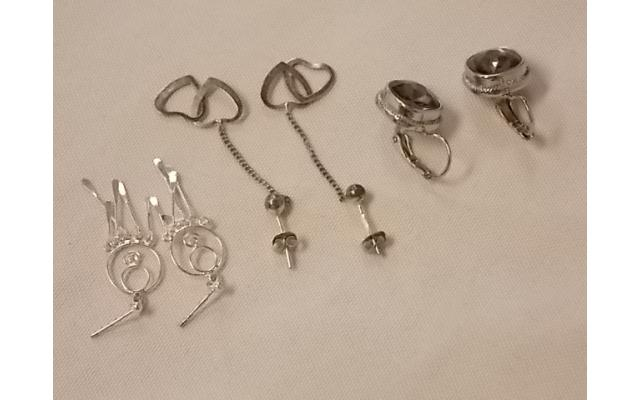 Lot #13 earrings either marked silver or appears to be silver - 2/2