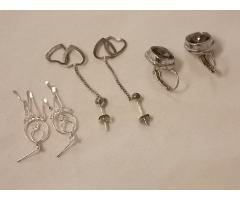 Lot #13 earrings either marked silver or appears to be silver - Image 2/2
