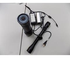 Rechargeable flashlight and scope