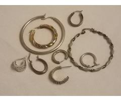 Lot #16 earrings either marked silver or appears to be silver missing mates