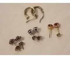 Lot #22 earring lot either marked silver or appears to be silver