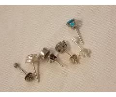 Lot #23 earring lot missing mates either marked silver or appears to be silver