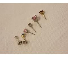 Lot #24 earring lot missing mates either marked silver or appears to be silver