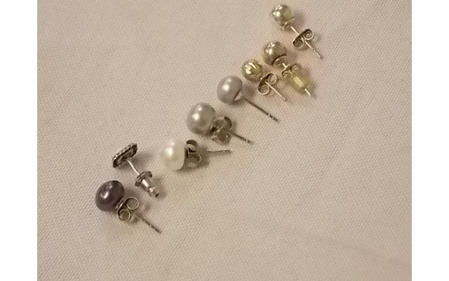 Lot #26 earring lot missing mates either marked silver or appears to be silver - 3/3