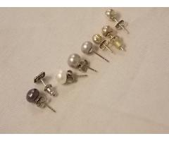 Lot #26 earring lot missing mates either marked silver or appears to be silver