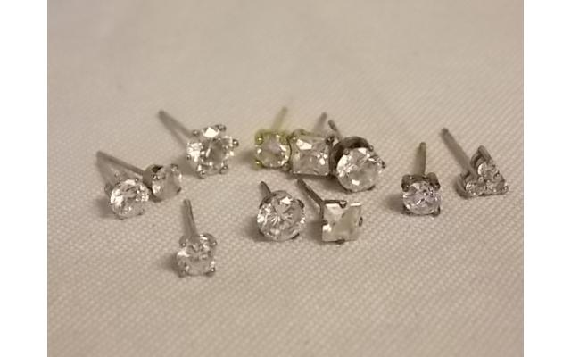 Lot #29 earring lot either marked silver or appears to be silver missing mates - 1/2